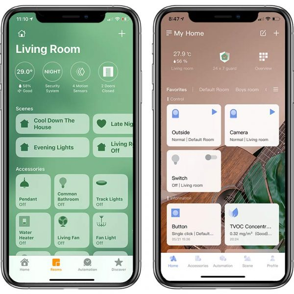 Apple Home and Aqara App